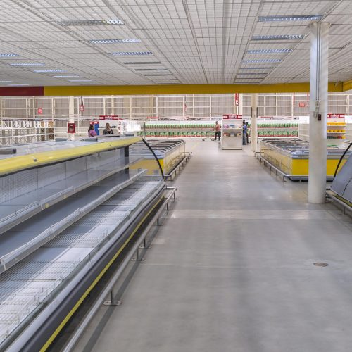 Empty supermarket shelves in Venezuela. Due to the economic crisis and hyperinflation in Venezuela there is a large shortage of food and medicine / Photo credits: sunsinger / 2018 / Source: depositphotos.com, ©2019