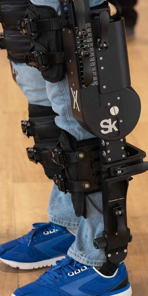 Demonstration of powered exoskeleton for disabled persons at Skolkovo Robotics Forum / Photo credits: toxawww / 2018 / Source: depositphotos.com, ©2019