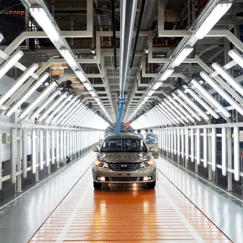 Emgrand cars pass through the assembly line at an auto plant of Geely in Hangzhou city, east Chinas Zhejiang province / Photo credits: Imaginechina-Editorial / 2012 / Source: depositphotos.com, ©2019