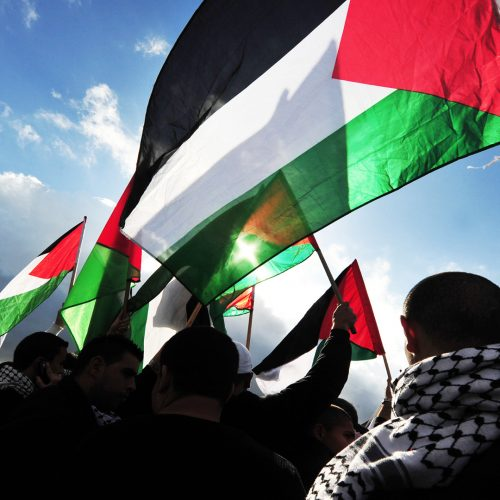 Palestinians carry Palestinians flags / Photo credits: lucidwaters / 2013 / Source: depositphotos.com, ©2019
