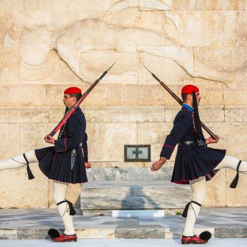 Evzone guarding the Tomb of Unknown Soldier in Athens / Photo credits: dimaberkut / 2015 / Source: depositphotos.com, ©2019
