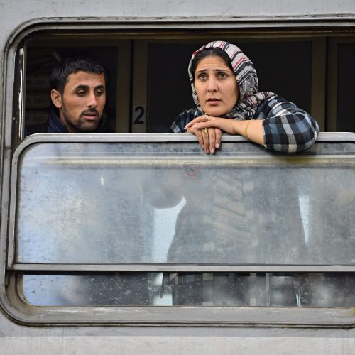 Refugees get into train which will go to Hungary, Tovarnik in Croatia / Photo credits: radekprocyk / 2015 / Source: depositphotos.com, ©2019
