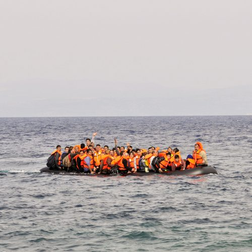 Refugees arriving in Greece in dingy boat from Turkey / Photo credits: AnjoKanFotografie / 2016 / Source: depositphotos.com, ©2019