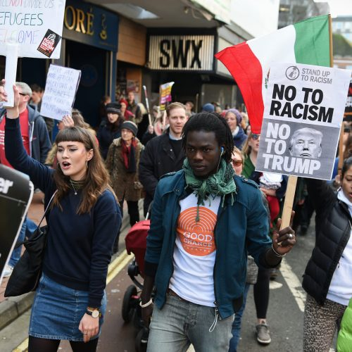 Protesters march through the city centre demonstrating against US President Donald Trump / Photo credits: 1000Words / 2017 / Source: depositphotos.com, ©2019