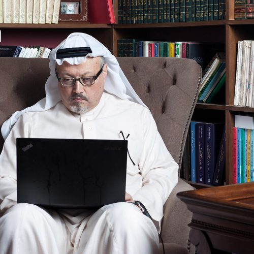 Portrait of Washington Post's Saudi journalist Jamal Khashoggi at his home in Jeddah, Saudi Arabia / Photo credits: hany_musallam@hotmail.com / 2016 / Source: depositphotos.com, ©2019
