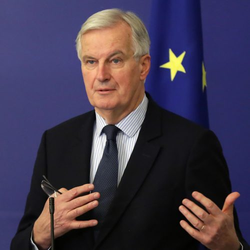 European Commission's Brexit negotiator Michel Barnier speaks at a press conference after meating Bulgarian PM at Council of Ministers / Photo credits: Belish / 2017 / Source: depositphotos.com, ©2019