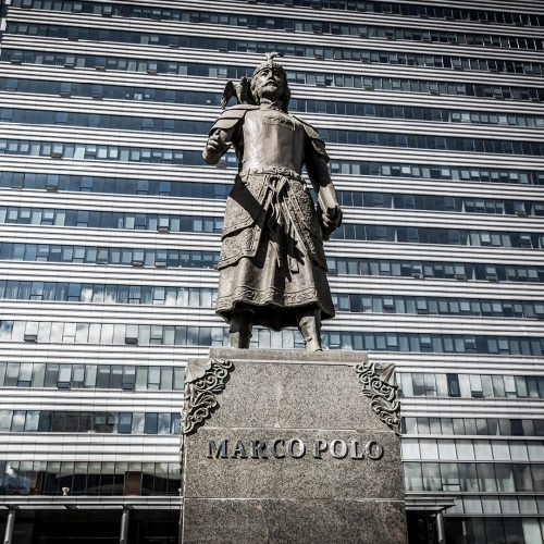 The statue of Marco Polo in Ulaanbaatar downtown in Mongolia / Photo credits: lspencer / 2018 / Source: depositphotos.com, ©2019