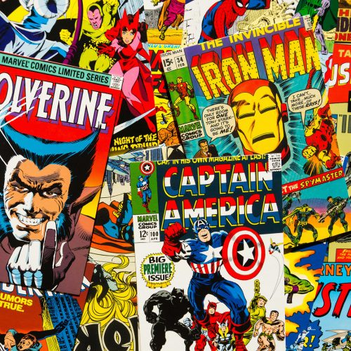 Colorful vintage comic magazine covers top view flat lay composition in Prague, Czech Republic / Photo credits: josekube / 2018 / Source: depositphotos.com, ©2019
