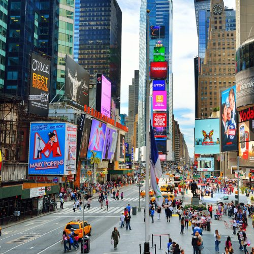 Times Square Traffic, the site is one of the world's most popular attractions wiith over 39 million / Photo credits: sepavone / 2012 / Source: depositphotos.com, ©2019